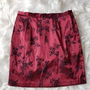 NWT- Esprit Brocade Floral Pencil Skirt